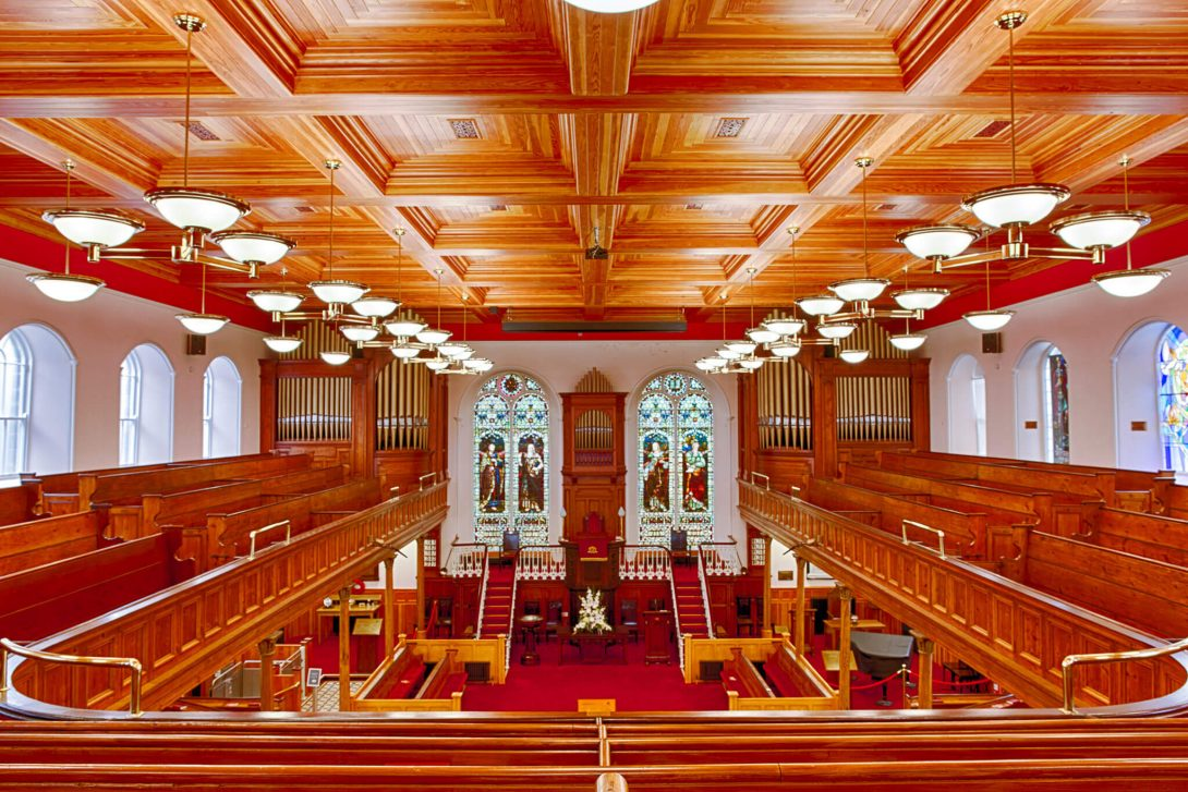 first derry presbyterian church interior